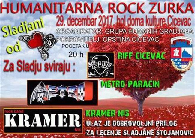 Humanitarna rok žurka u Ćićevcu za pomoć Slađani Stojanović!!!