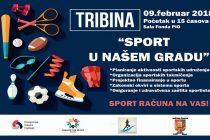 """Sportski Savez Ćuprije organizuje u Sali Fonda PIO javnu tribinu """"Sport u našem gradu""""!!!"""