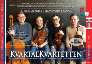 "Koncert norveškog gudačkog kvarteta ""KvartalKvartetten"" u Gornjem Milanovcu!!!"