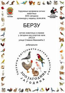 """Udruženje sitnih uzgajivača """"ZOO Jagodina"""" organzuje berzu životinjica i opreme!!!"""