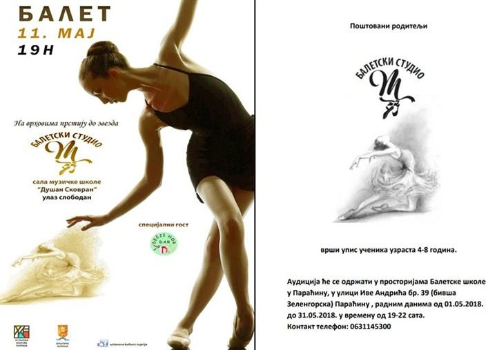 """Baletski studio """"M"""" gostuje u Ćupriji!!!"""