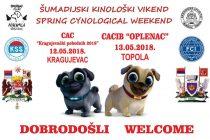 Kinoloski vikend u srcu Srbije, u Kragujevcu i Topoli !!!
