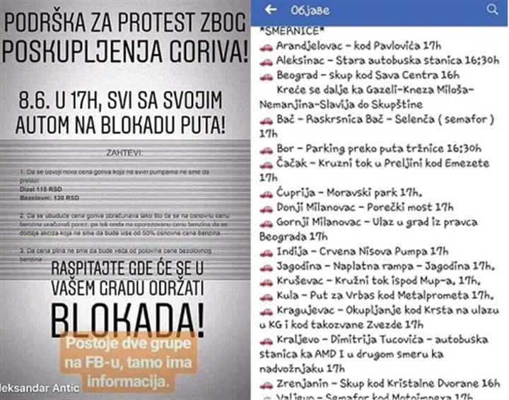 U Gornjem Milanovcu i Preljini protest protiv poskupljenja goriva!!!
