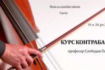 Škola za muzičke talente u Ćupriji organizuje kurs kontrabasa!!!