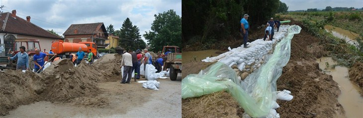 Nakon jučerašnjeg izlivanja bujičnih vodotokova u selima opštine Svilajnac i dalje na snazi vanredna situacija !!!