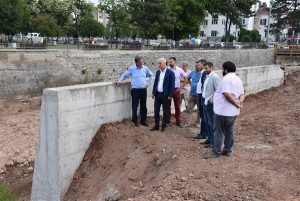 """DIREKTOR """"SRBIJAVODA obišao je završne radove na regulaciji korita reke Ravanice!!"""