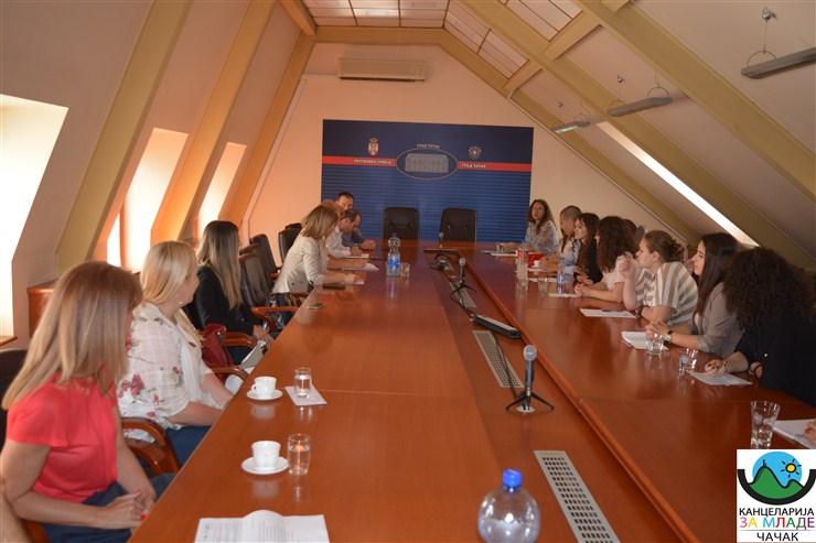 Mladi na sastanku sa predstavnicima grada Čačka !!!