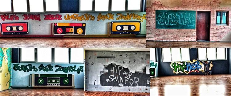 Uradjeni zanimljivi grafiti za plesnu sekciju Hip-Hop Semafor u ćuprijskoj Tehničkoj školi!!!