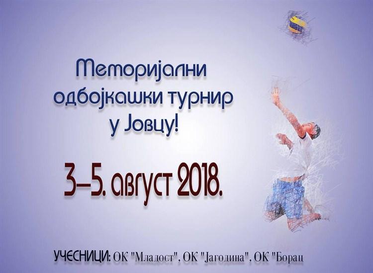 Selo Jovac domaćin memorijalnog odbojkaškog turnira !!!