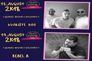 Ovog vikenda dobra zabava na gradskim bazenima u Svilajncu-Silky Summer Jam 2018 !!!