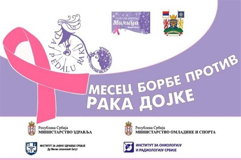 Mesec borbe protiv raka dojke-Sutra u Gornjem Milanovcu akcija besplatnih, preventivnih pregleda !!!