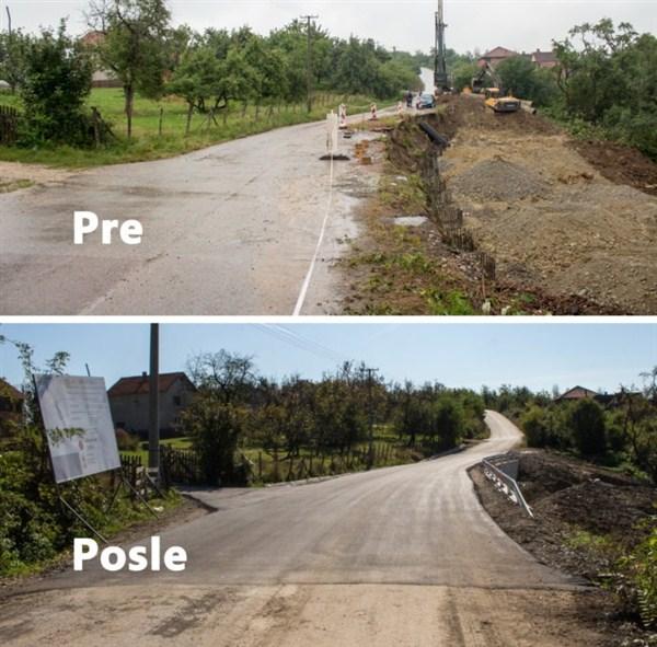 U okviru Programa otklanjanja posledica poplava 2016. godine, završeno klizište na lokalnom putu Tabanović – Donja Toplica !!!