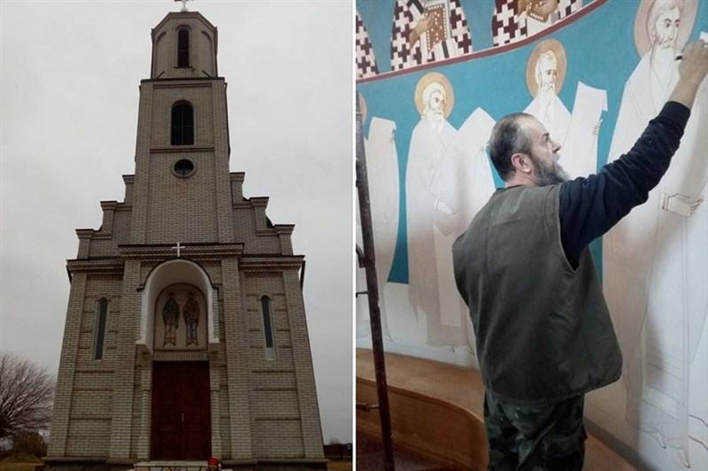 Oslikava se crkva u Zagorici !!!