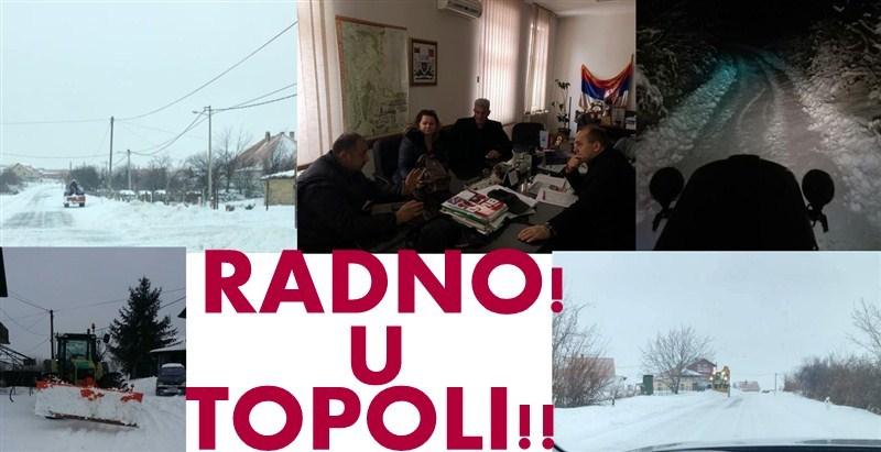 U topolskoj opštini gradjani su se pridružili radnicima Komunalnog preduzeća da se sneg očisti što pre!!!