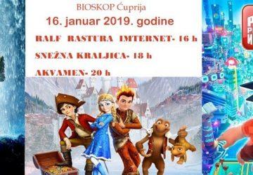 BIOSKOPSKI repertoar u Ćupriji otvaraju crtani filmovi za najmladje i hit film Akvamen !!!