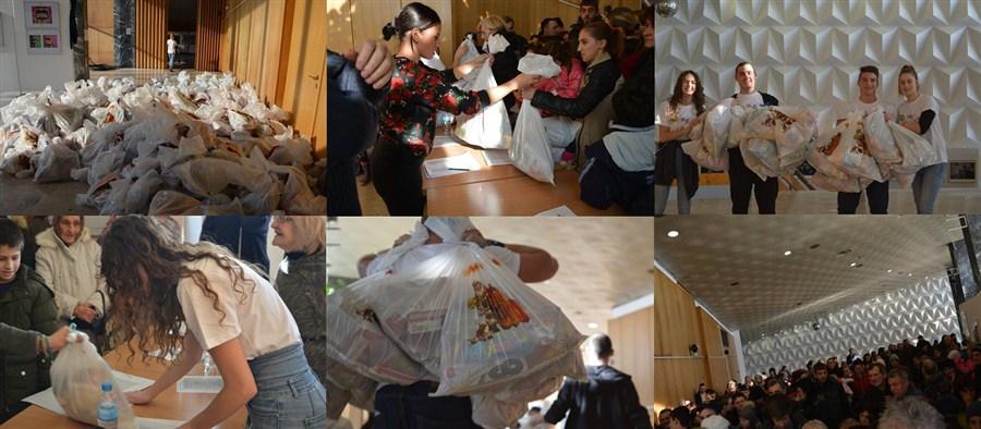 """U okviru akcije """"Osmeh na dar"""" sakupljeno 592 paketića za bolesnu i socijalno-ugroženu decu !!!"""