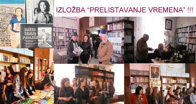 """Narodna biblioteka """"Dušan Matić"""" organizovala je izložbu """"PRELISTAVANjE VREMENA"""" povodom Međunarodnog dana knjige!!!"""