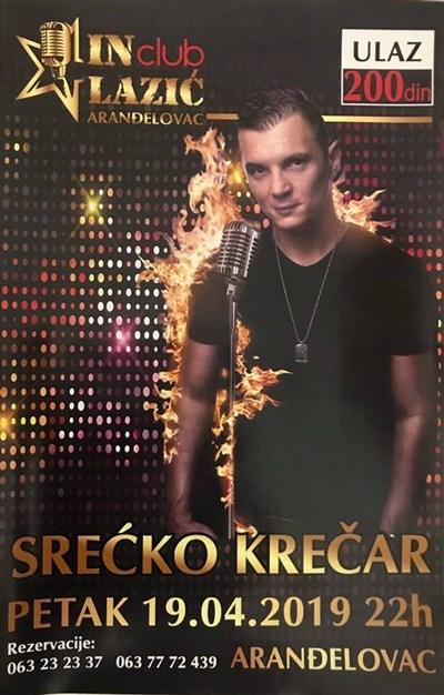 NE PROPUSTITE najbolju žurku u Šumadiji-Srećko Krečar u Klubu IN !!!