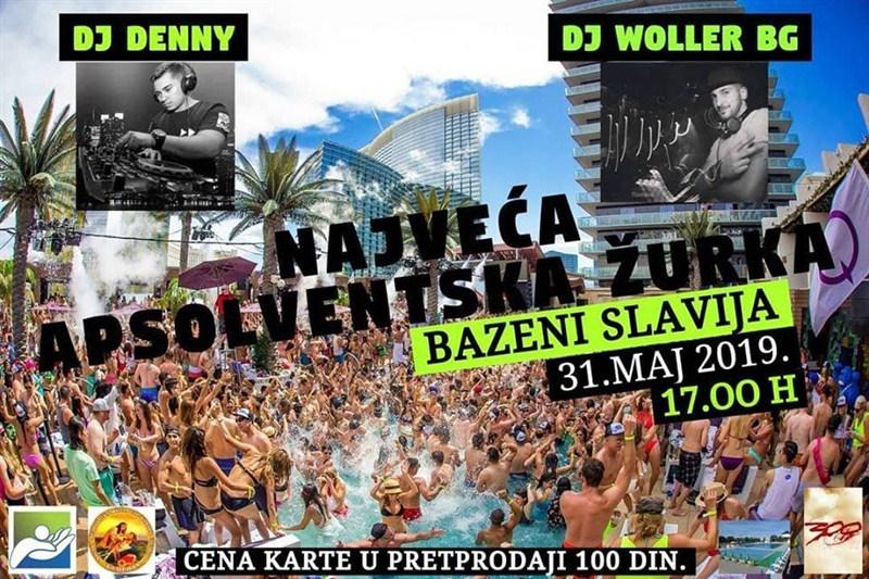 Najveća apsolventska žurka na Bazenima Slavija u Ćupriji !!!