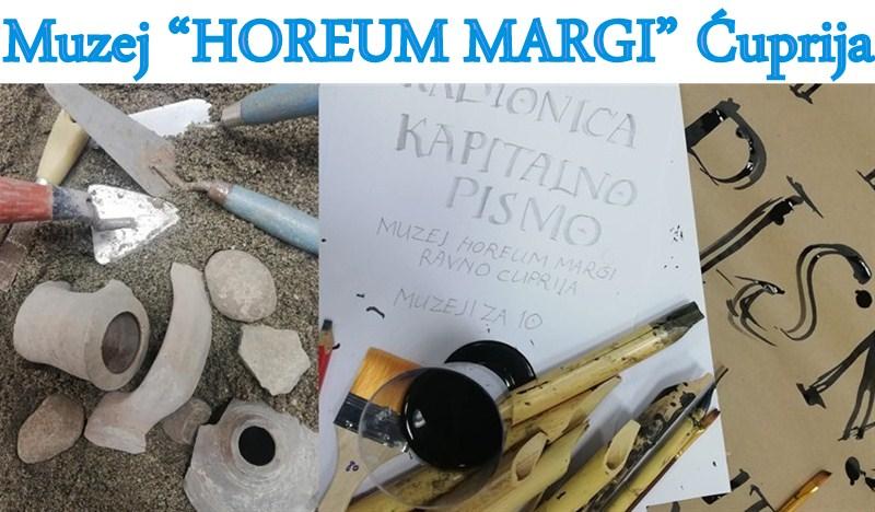 """I u muzeju """"Horeum Margi Ravno"""" u Ćupriji održane edukativne radionice u okviru manifestacije """"Muzeji za 10""""!!!"""