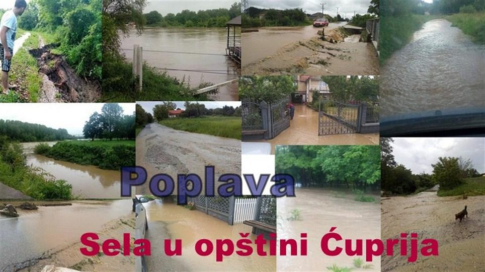 Predsednik opštine Ćuprija Ninoslav Erić proglasio vanrednu situaciju na delu teritorije opštine Ćuprija!!!