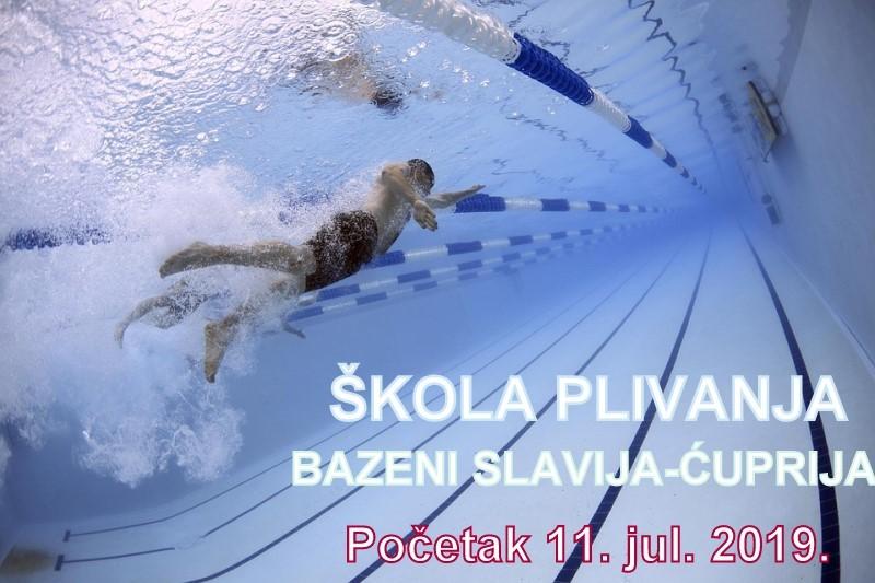 Školica plivanja i ove godine na bazenima Slavija u Ćupriji !!!