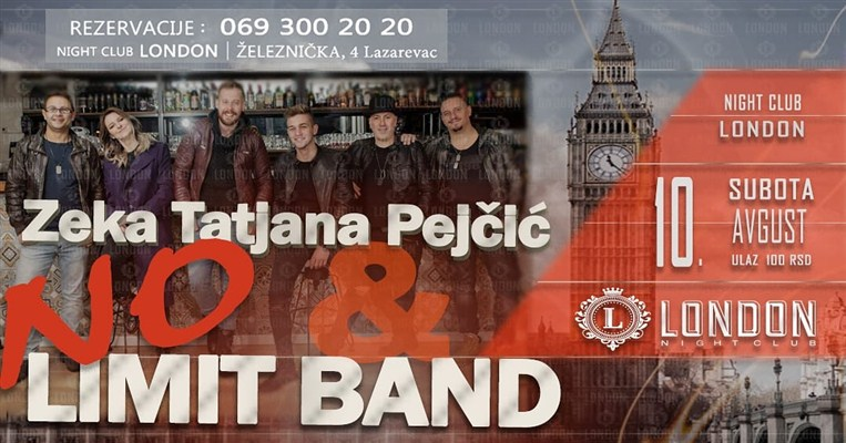 "Zeka, Tatjana Pejčić i NO LIMIT BAND u ""Londonu"" !!!"