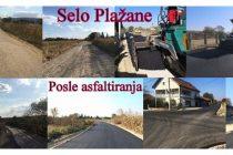 Završeno asfaltiranje puta u despotovačkom selu Plažane !!