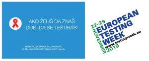 EVROPSKA NEDELjA TESTIRANjA NA HIV I HEPATITIS 22–29. novembar 2019. !!!