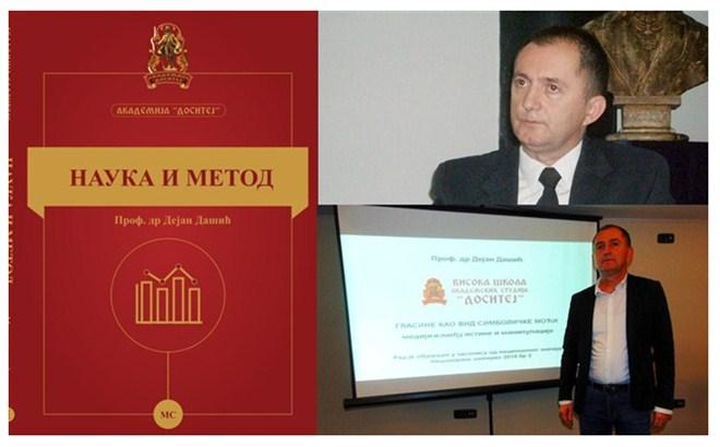NAUKA I METOD – metodologija naučno-istraživačkog rada-Stručna monografija Dejana Dašića, naučnika, profesora, maratonca ...!!!