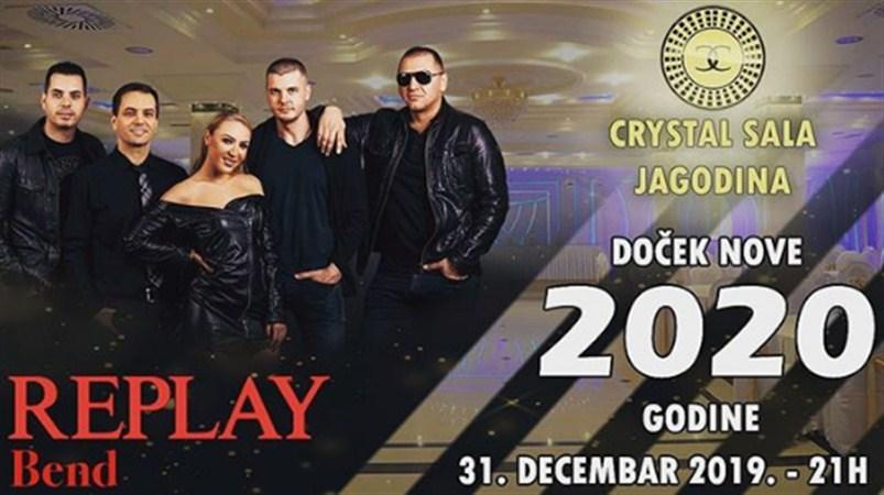 REPLAY BAND za doček 2020.godine CRYSTAL sali u Jagodini !!!