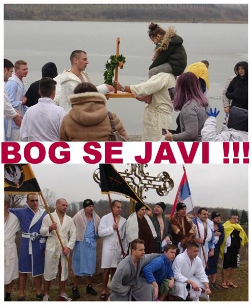 PLIVANJE ZA ČASNI BOGOJAVLJENSKI KRST NA MARKOVAČKOM JEZERU !!!