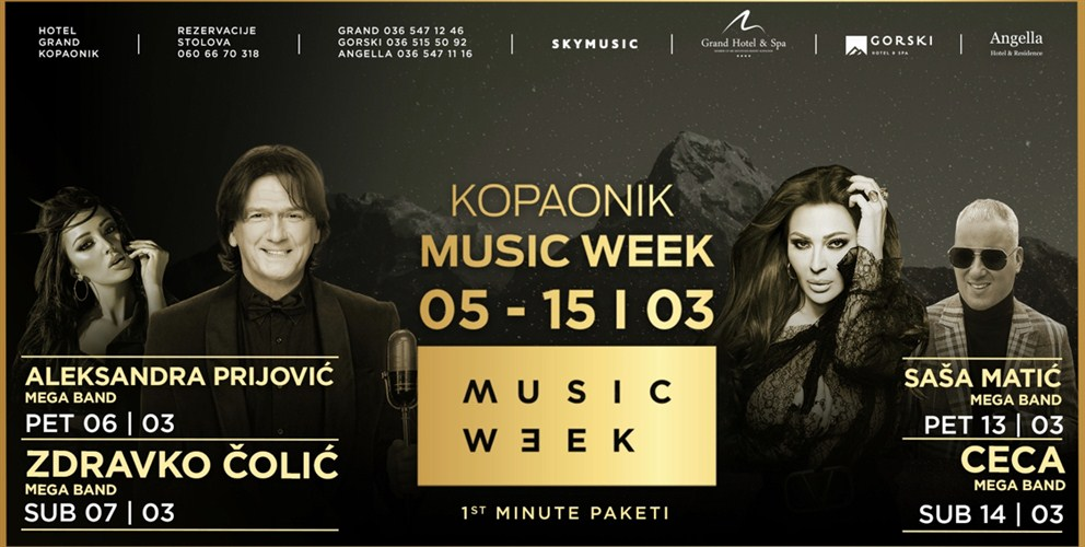 MEGA BEND na KOPAONIK MUSIC WEEK-u !!!