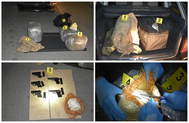 Uhapšena M. M. (1989) u Novom Sadu i zaplenjeno 20 kilograma marihuane i pet pištolja !!!