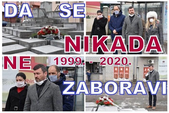 Dan početka NATO AGRESIJE na Srbiju obeležen u Ćupriji polaganjem venca na spomenik !!!