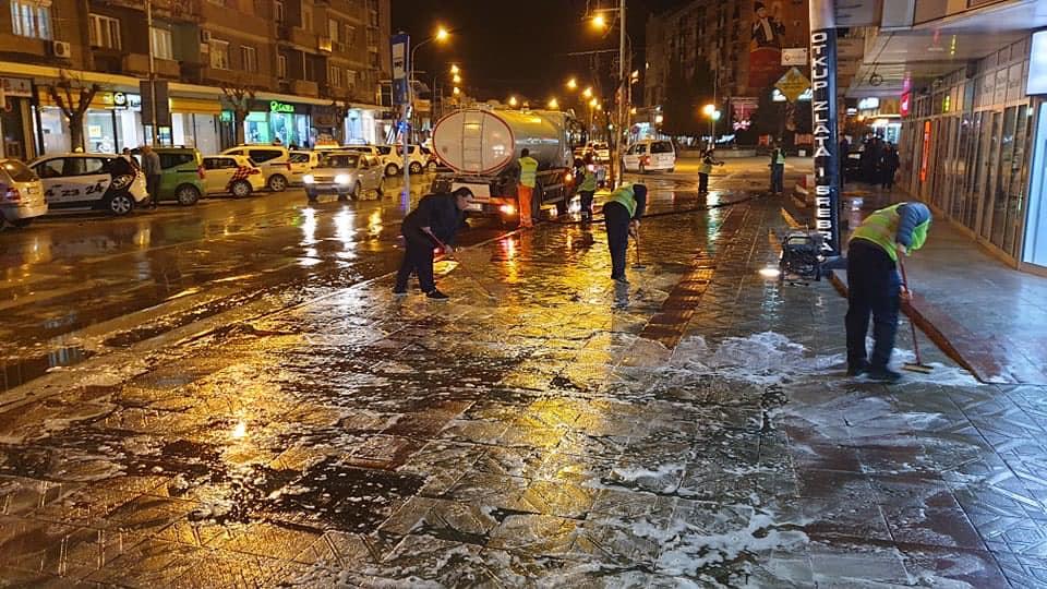 U Jagodini je počela dezinfekcija i čišćenje ulica !!!U Jagodini je počela dezinfekcija i čišćenje ulica !!!