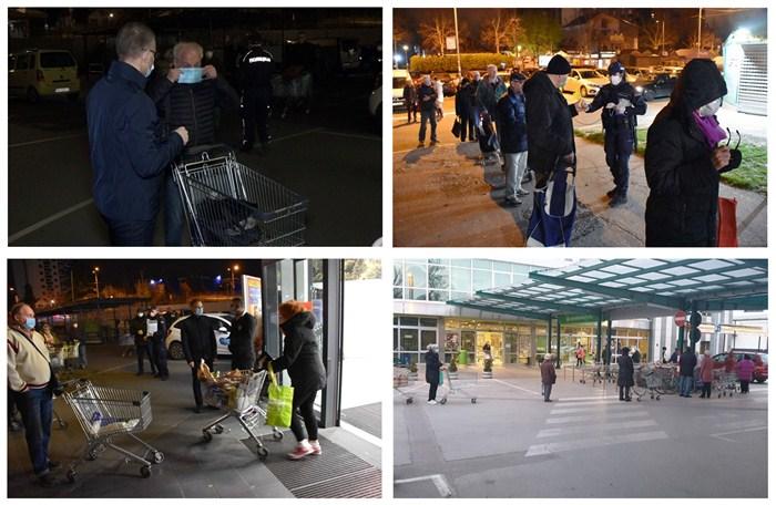 Ministar Nebojša Stefanović obišao rano jutros više prodavnica u kojima su penzioneri kupovali namirnice !!!