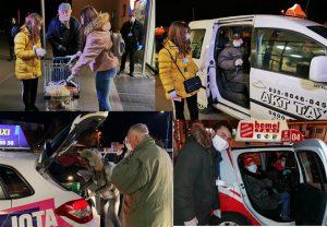 GRAD JAGODINA ZA SVOJE PENZIONERE OBEZBEDIO taksi vozila da ih besplatno voze od marketa do kuće !!!