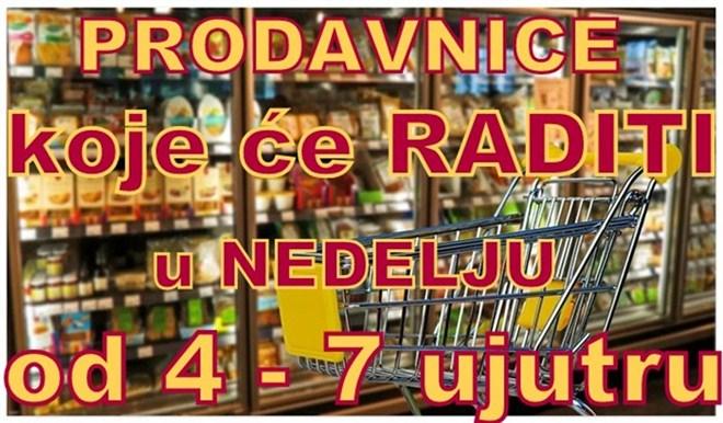 Spisak prodavnica koje će raditi u NEDELJU za Ćupričane starije od 65 godina !!!