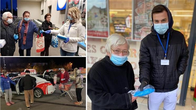 GRAD JAGODINA: PENZIONERIMA ZAŠTITNE MASKE I RUKAVICE, pomoć volontera i besplatan taksi prevoz !!!