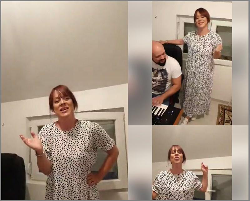 SLADJA ALLEGRO spletom pesama u kućnoj vraijanti na svom facebook profilu oduševila pratioce !!!