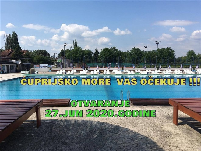 Ćuprijsko more vas očekuje-OTVARANjE BAZENA je u subotu 27-og juna !!!