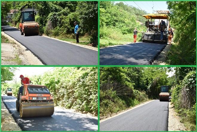 Nastavljeno sa asfaltiranjem u ćuprijskim selima - ulice u Jovcu i Ostrikovcu dobile novi izgled !!!