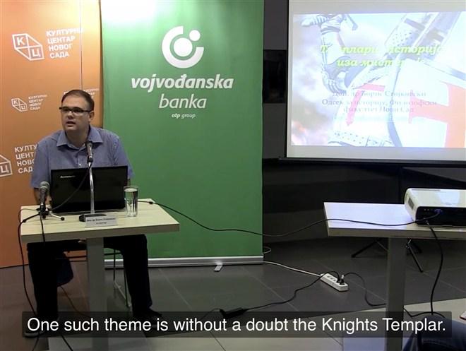 "Na zahtev publike predavanje istoričara dr Borisa Stojkovskog ""Templari: istorija iza misterije"" prevedeno je na engleski jezik"