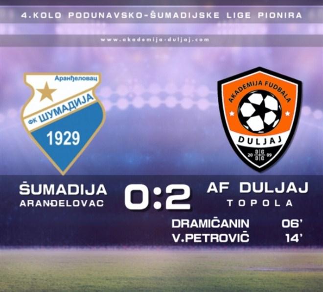 Pobeda pionira AF Duljaj u Arandjelovcu !!!