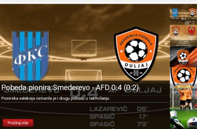 Pobeda pionira AF Duljaj u Smederevu !!!