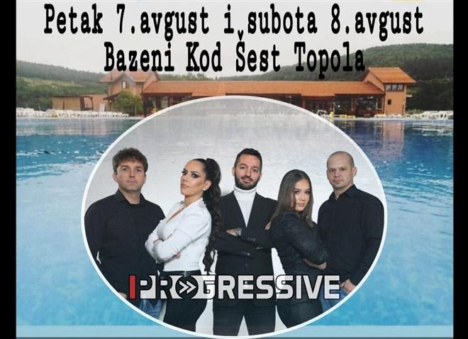 UŽIVAJTE UZ PROGRESSIVE BEND U NOĆNOM KUPANJU NA BAZENIMA ŠEST TOPOLA !!!