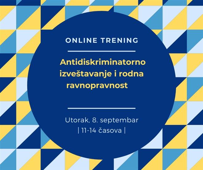 ONLINE TRENING: Antidiskriminatorno izveštavanje i rodna ravnopravnost !!!