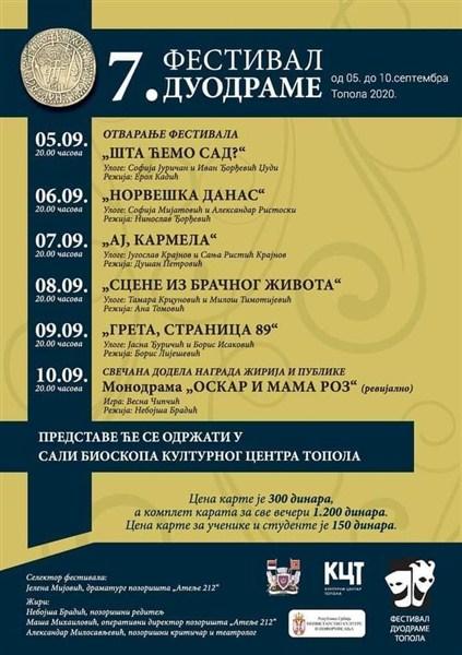 FESTIVAL DUODRAME u Topoli !!!