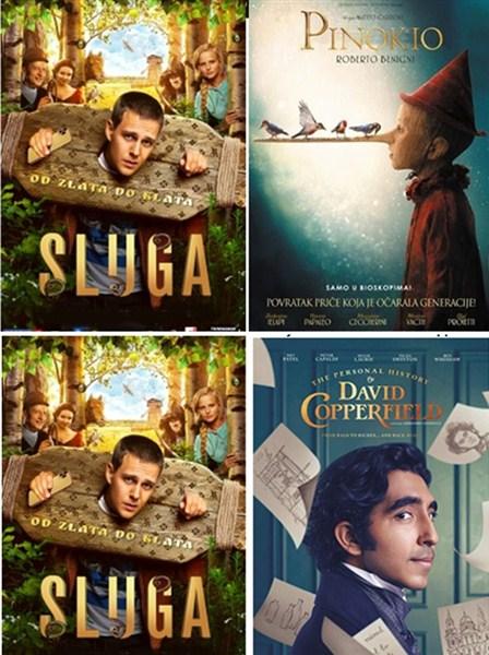 FILMSKI PROGRAM KC Novog Sada-Sluga, Pinokio i Izvanredan život Davida Koperfilda !!!